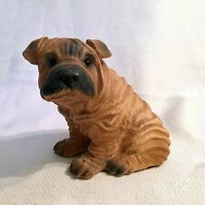 "Chinese Shar-Pei Puppy Dog, Resin 4-1/2"" Statue"
