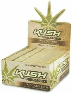 Kush Unbleached King Slim Smoking Rizla Cigarette Rolling Papers Skins **NEW!!**