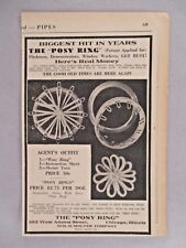 Posy Rings PRINT AD - 1931 ~ make flowers for knitting,sewing,needlework; Molter