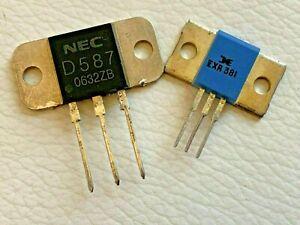 1 Pair   2SD587+ECG381 (2SB617) NEC MT-100