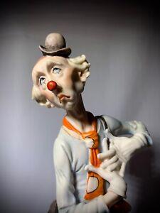 """Giuseppe Armani Figurine """"Der singende Clown"""" (416C) 30,5 cm. Perfekter Zustand."""