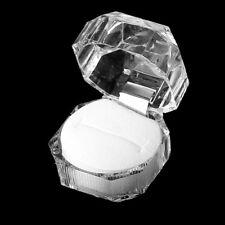1 Stück Ringetui Ringbox Ringschachtel Etui Schmuckdose transparente Form