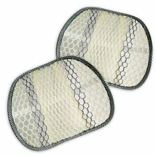 Zone Tech 2x Cool Mesh Hollow Car Chair Seat Beige Back Spine Lumbar Support