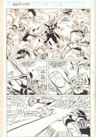 Thor Annual #17 p.15 - Thor in Medieval Battle - 1992 art by Geof Isherwood