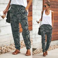 Women's Camouflage Jogger Pants Joggers Elastic Waist Casual Sweatpants Trousers