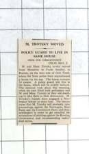 1936 Trotsky Moved From Honefoss To Farm Sundby