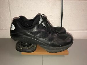 Z-Coil Mens Freedom Classic Black Leather Shoes Mens Size 11 Pain Relief Walking
