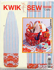 KWIK SEW SEWING PATTERN 4183 IRONING BOARD COVER, SEWING BASKET, PINCUSHION