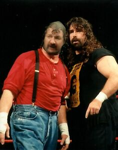 Terry Funk Mick Foley Mankind 8x10 Wrestling Photo WWE Wrestler Hardcore NWA WCW