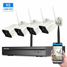 4CH Wireless HDMI CCTV NVR System Home Wifi Security IP Camera Set 1080P NVR eR