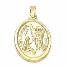 BEAUTIFUL SAINT RAPHAEL MEDAL IN 18K GOLD OVER STERLING SILVER!!!