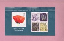 Gran Bretaña, 2008 SG2886, no debemos olvidar armisticio, Mini hoja de menta