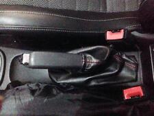 Cuffia Leva freno a mano Opel Corsa D pelle nera + cuciture ross