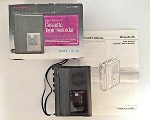 Radio Shack Realistic 14-1055 Minisette-20 Compact Cassette Recorder/NOS
