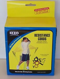 IZZO GOLF SWING STRENGTH TRAINER RESISTANCE CORDS RRP$35 GYM EXERCISE EQUIPMENT