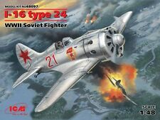 POLIKARPOV I-16 TYPE 24 (SOVIET AF MARKINGS) 1/48 ICM NEW RELEASE