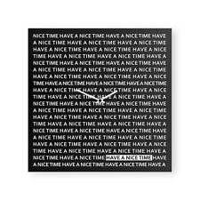 dESIGNoBJECT Orologio da muro Nice Time nero 50x50 Made in Italy