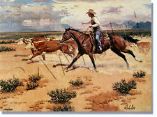 """HEADIN' OLD WILD BOSS"" LIMITED EDITION PRINT BY BOB LEE  **NEW & NEVER FRAMED**"