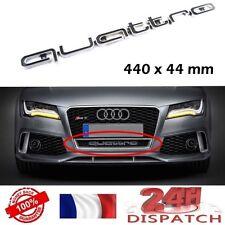 Logo QUATTRO Calandre front grill Audi 440x44mm ABS BLACK emblem aufkleber sigle
