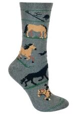 EQUESTRIAN DRESSAGE HORSES! Gray Socks~M~Great Gift! Spring Sale Price!