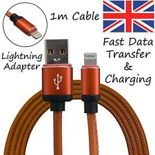 iPhone Lightning 1m Cable Lead for Sync & Charging – Light Brown, 6 7 8 X XR 11