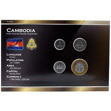 CAMBODIA 4 COINS FULL SET: 50, 100, 200, 500 RIELS 1994 UNC