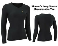 USD Women's Compression Top Long Sleeve Base Layer Running Gym Training Top S-XL