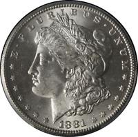 1881-S Morgan Silver Dollar PCGS MS63 Blazing White STOCK