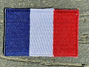 """Mini Flag Patch GERMANY or FRANCE Size 1¼x1¾"""" (3x4.5cm) 30mm x 45mm"""