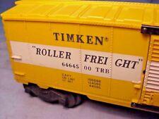 LIONEL TRAIN #6464-500 POSTWAR TIMKEN ROLLER BEARINGS BOXCAR - 1957-59 EX-!