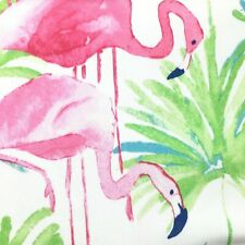 "Cynthia Rowley Pink Flamingo Tablecloth Watercolor Palms Tropical Outdoor 70"" R"