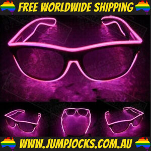 Pink LED Glasses - Rave, Costume, Party, Light Up *FREE WORLDWIDE SHIPPING*