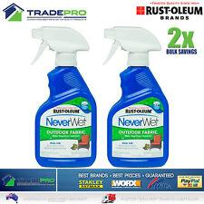 2x Neverwet Rustoleum Fabric Upholstery Protector Spray Waterproof Wet Treatment