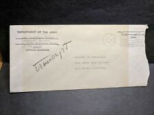 APO 154 LUDENDORFF KASERNE, GERMANY 1957 Official Army Cover 540th ENGR Gp