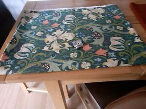 """Vintage WILLIAM MORRIS Golden Lily heavy fabric  12ft length x 50"""" wide"""