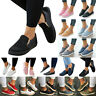 US Women Casual Slip On Pumps Canvas Loafers Flats Trainers Plimsolls Shoes Size