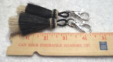 Extra, Extra thick Mule tail Horse Hair zipper pulls tassels (2) w/ snap (New)