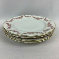 "Antique Austria ""Karlsbad"" Salad Plates - Set of 4 - Rose Pattern"