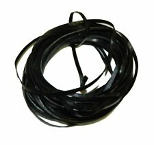 4mm Flat Lace Leather Cord 5 Yards Black 4x1.5mm