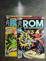 Rom vol-1 ~2 book lot #3,4 VF Marvel Comics ~ Bronze Age (1980)
