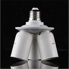 3 In 1 E27 to E27 Socket Splitter Light Lamp Bulb Base Adapter Holder For Studio
