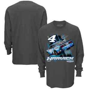 Kevin Harvick # 4 Nascar 2021 Checkered Flag Charcoal L/S Men's Shirt Large