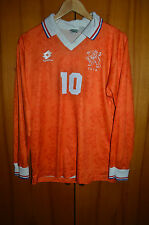 HOLLAND 1994 WORLD CUP PLAYER ISSUE HOME FOOTBALL SHIRT JERSEY LOTTO #10