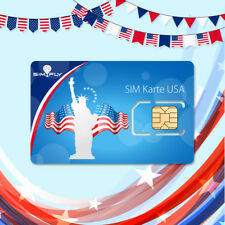 USA America Sim Card Lyca Prepaid, 100 GB Data + Flatrate Text / Talk + internat