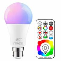 iLC B22 LED Colour Changing Light Bulb with Remote Control RGBW Bayonet - 120