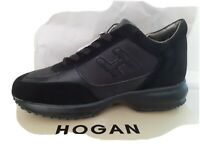 HOGAN INTERACTIVE WOMENS TRAINERS/SNEAKERS BLACK/BLACK - BRAND NEW & BOXED