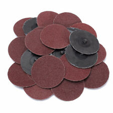 "25-PC. 36 Grit 3"" Sanding Discs Wheels With 1/4"" Mandrel Roll Lock Roloc™ Style"
