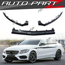 Schwarz Front Spoiler Lippe Stoßstange für Mercedes W205 S205 AMG Line C43 15-18