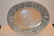 """Wilton Armetale Pewter William & Mary Large Oval Platter 20""""x16"""" RARE!"""