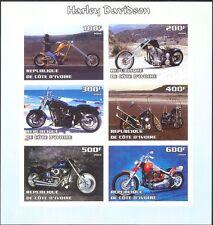 Ivory Coast 2004 Harley Davidson/Motor Cycles/Motorbikes IMPERF sht (cs) n10670